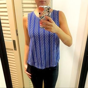 Fighting Eel blue and white sleeveless top